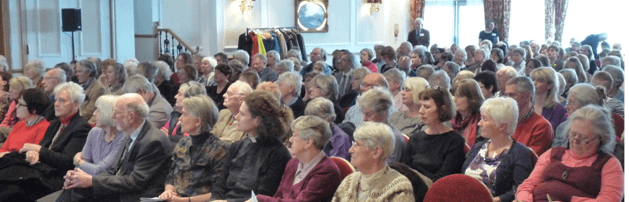 Audience at a previous Malcolm Goldsmith lecture