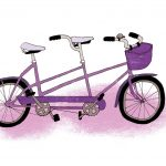 purple bicycle