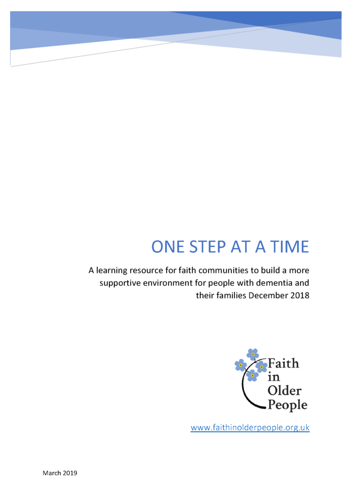 One step at a time cover page